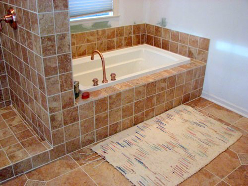 Custom Tile Tub And Shower Designed And Installed.