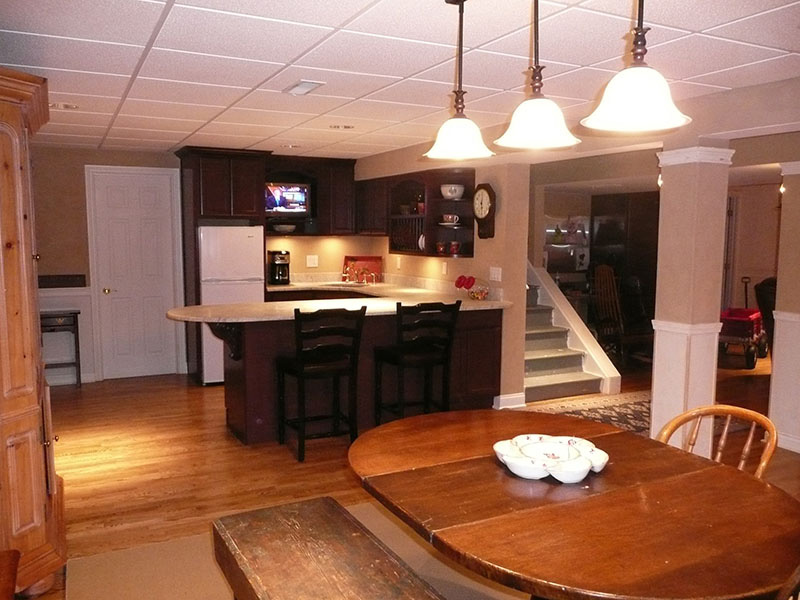 Full scale basement remodel in chagrin falls oh the for M kitchen chagrin falls